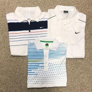 3 Men's DriFit Golf Polos